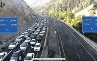 ترافیک سنگین در محور چالوس | از سفرهای غیر ضرور خودداری کنید